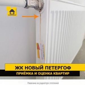 Приёмка квартиры в ЖК Новый Петергоф: Ржавчина на радиаторе отопления