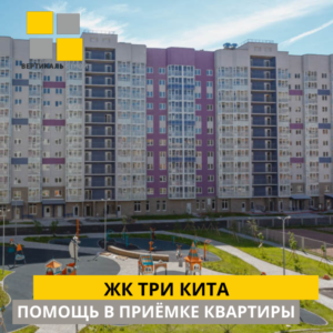 """Отчет о приемке 1 км. квартиры в ЖК """"Три Кита"""""""