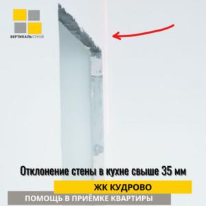 Приёмка квартиры в ЖК Кудрово: Отклонение стены в кухне свыше 35 мм