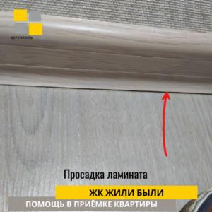 Приёмка квартиры в ЖК Жили Были: Просадка ламината