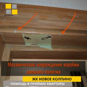 Приёмка квартиры в ЖК Новое Колпино: Механическое повреждение коробки дверного полотна