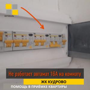 Приёмка квартиры в ЖК Кудрово: Не работает автамат 16А на комнату