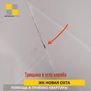 Приёмка квартиры в ЖК Новая Охта: Трещина в углу короба