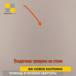 Приёмка квартиры в ЖК Новое Колпино: Усадочная трещина на стене